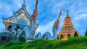 【雙城記】泰國清邁清萊6-7日游【升級國際五星/夜間動物園/泰囧廟/雙龍寺/大象營/黑白藍廟//雙夜市】