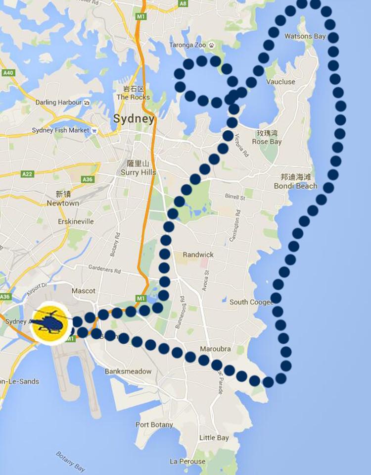悉尼直升机飞行观光体验(20分钟 海岸线 悉尼海港风光图片