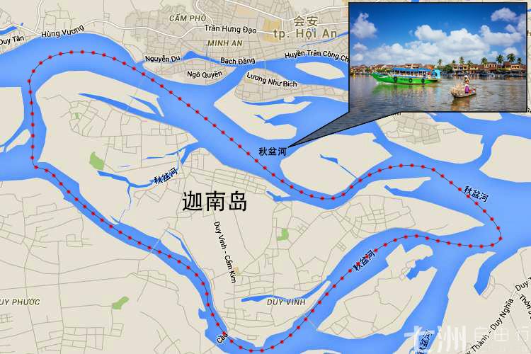 迦南岛一日游(岘港/会安出发)——迦南岛位于越南岘港会安古镇秋盆河