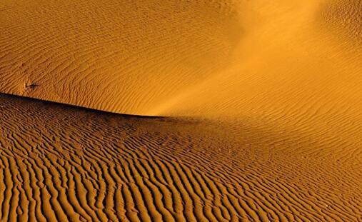 塔克拉玛干沙漠位于中国新疆的塔里木盆地中央