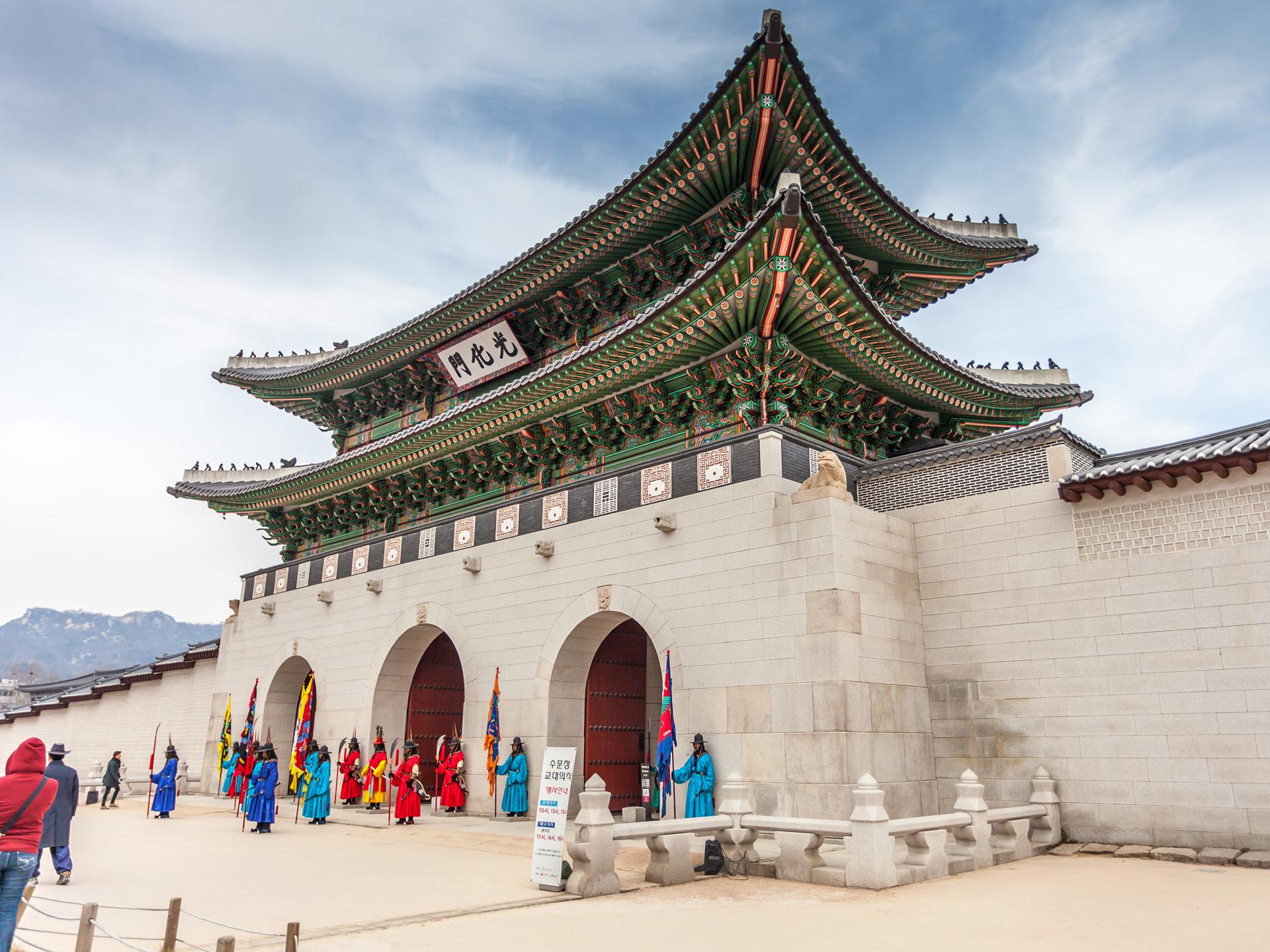 韩国古代民宅手绘