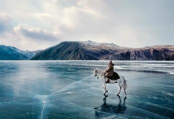 俄罗斯 冬日贝加尔湖