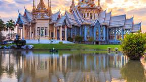 泰国:独墅泰曼谷+芭提雅5晚7日游(无自费/别墅酒店/双体风帆海上巡游/全程自助餐)