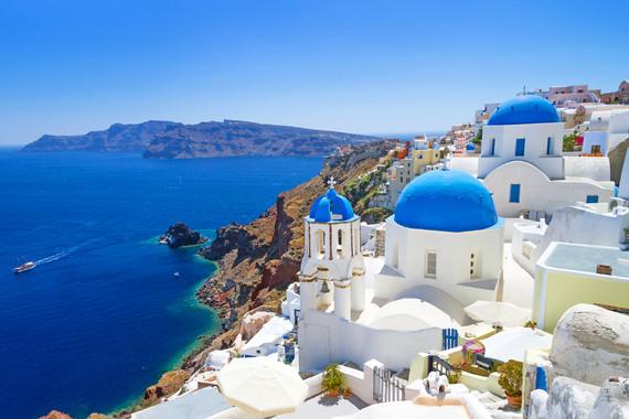 【立减600元】希腊+一价全含西葡14日 圣托里尼 两段加飞 塞维利亚马车巡游 圣家族教堂 西班牙海鲜饭 特色烤鱼餐