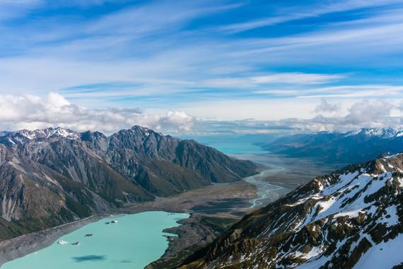 新西兰南北岛冰河湖游船+库克山深度体验9日游